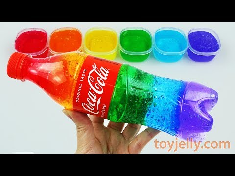 DIY How To Make Colors Slime Clay Giant Jelly Monster Cola Bottle Color Learning Video Kids Children