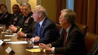 """""""A Very Dangerous Moment"""": Trump Threatens to Strike Syria as Warmonger John Bolton Joins Cabinet"""