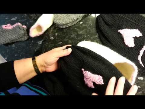 Addi express  knitting How  to make slippers adult/baby Part 2