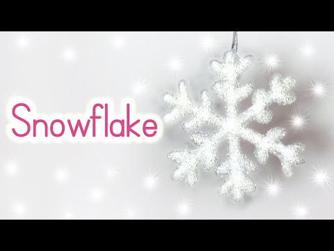 DIY Christmas crafts: CHRISTMAS ORNAMENTS Snowflake - Innova Crafts
