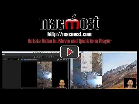 Rotate Video In iMovie and QuickTime Player (#1623)