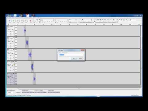 PRICOM Audacity Creating 8 channel Files