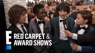 """""""Stranger Things"""" Stars Have Superstar Celeb Fans   E! Live from the Red Carpet"""