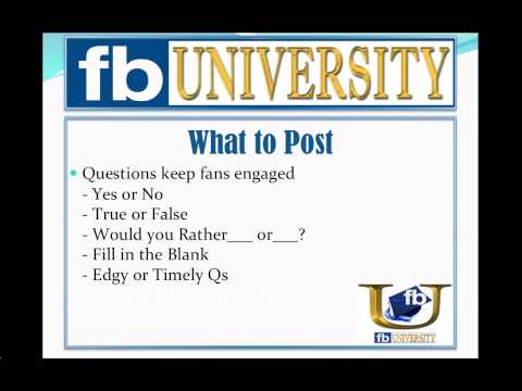 What to Post on Facebook