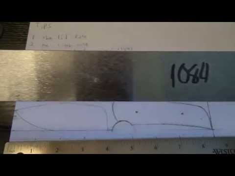 How to make a knife part 1. Design tips and drawing