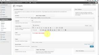 Adding Links and Images to Your WordPress Sidebar