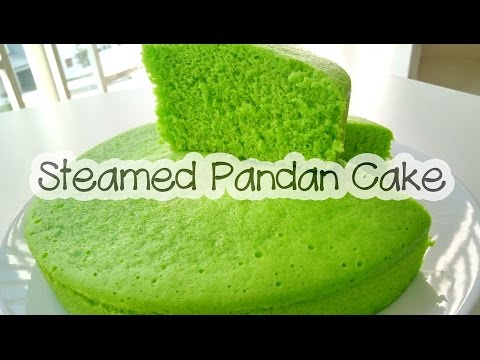 How to make STEAMED PANDAN CAKE | KEK PANDAN KUKUS