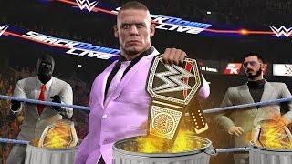 WWE 2K17 Story - John Cena Burns All The Titles? - Ep.59
