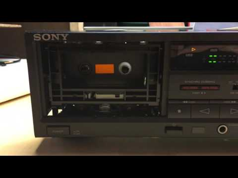 Sony TC-WR570 tape deck demo