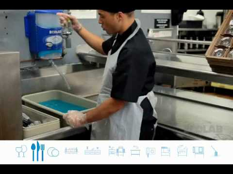 Ecolab flatware washing training