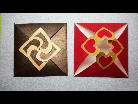 How to make cards at home ll with hearts ll love cards ll DIY paper crafts ll old card craft
