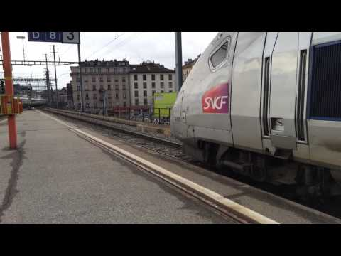 TGV depart from Geneva