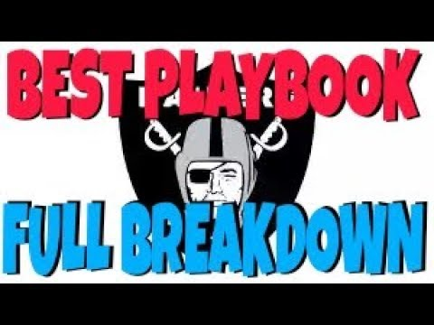 FULL FREE RAIDERS OFFENSIVE PLAYBOOK BREAKDOWN! GLITCH PLAYS, 1 PLAY TD'S & MADDEN 18 MONEY PLAYS