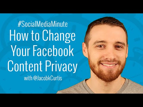 How to Hide or Limit Past Facebook Posts and Make Photo Albums Private - #SocialMediaMinute