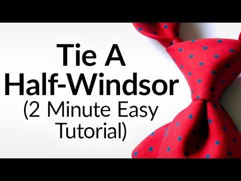 How To Tie A Half Windsor Knot | Half-Windsor Necktie Video Tutorial | Tying Neck-tie Halfwindsor