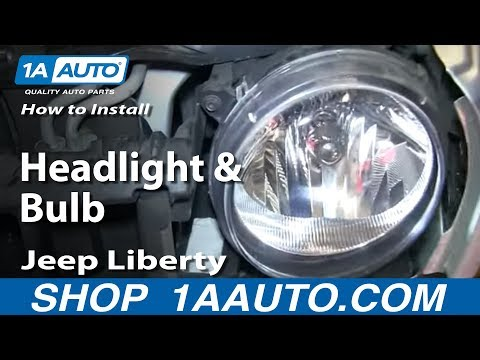 How To Install Replace Change Headlight and Bulb 2005-07 Jeep Liberty