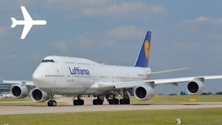Diversion Lufthansa B747-8 Close Up Takeoff From Manchester Airport