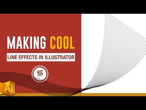 HOW TO MAKE A CURVE LINE EFFECT IN ILLUSTRATOR  -  𝕔𝕦𝕣𝕧𝕖 𝕝𝕚𝕟𝕖𝕤