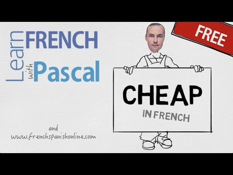 How to say CHEAP in French