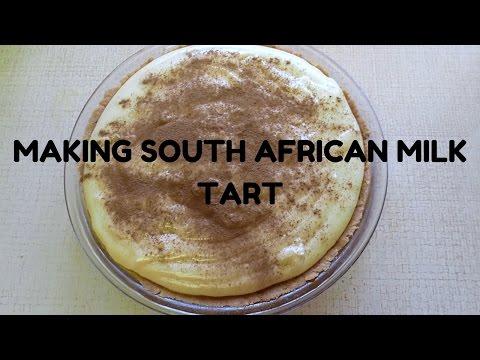 Making of the milk tart