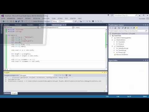 C++ Tutorial [023] - std::string GERMAN