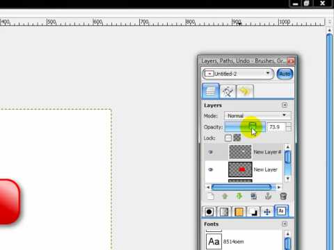 How to make the Youtube Logo in Gimp - HD Tutorial (Gimpologist)
