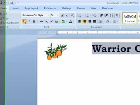 Word - How to Create Letterhead in a Word Document
