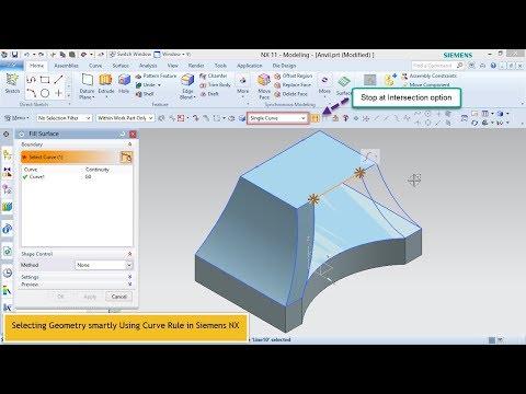 Selecting Geometry smartly Using Curve Rule in Siemens NX