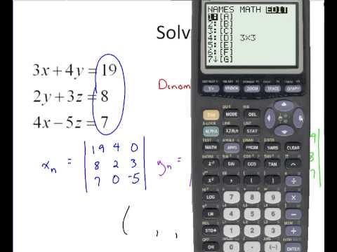 Algebra - Cramer's Rule for 3 x 3 with Calculator