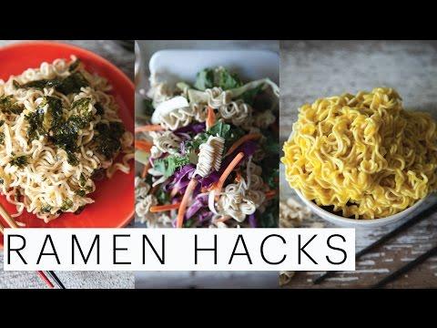 3 BACK-TO-SCHOOL DORM ROOM HACKS FOR RAMEN | Kylie Jenner | Asian Salad | Mac n Cheese | Edgy Veg