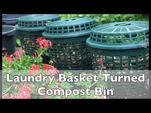 LAUNDRY BASKET TURNED COMPOST BIN