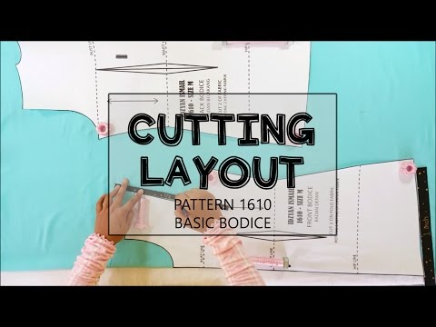 Cutting Layout for basic bodice pattern