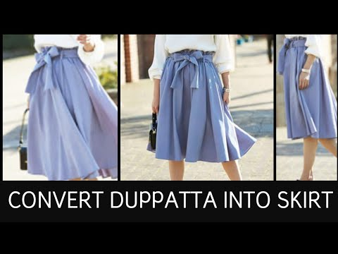 DIY: Convert Old Saree/Duppatta Into Full Volume Flare Skirt in 10 Minutes