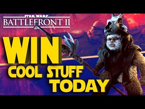 GIVEAWAY DAY!!! - Star Wars Battlefront 2 Ewok Hunt Live Stream
