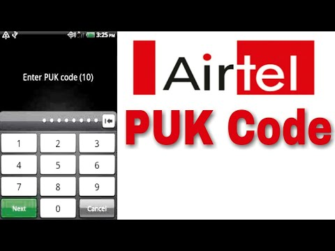 Airtel Puk code unlock.