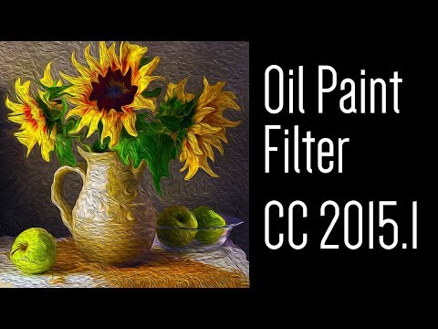 Photoshop Tutorial: How to Use the OIL PAINT Filter in CC 2015.1.1