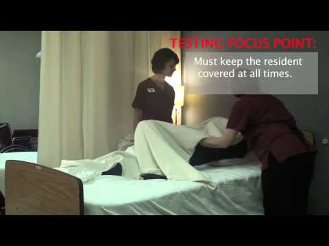 CNA and Nursing Skill Training: Making an Occupied Bed