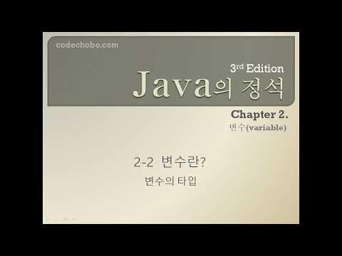 [java의 정석 3판] 2-2 변수의 타입