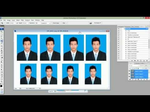 How to Create 4x6 3x4 size Auto in Photoshop CS3