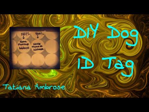 DIY Dog ID Tag Tutorial