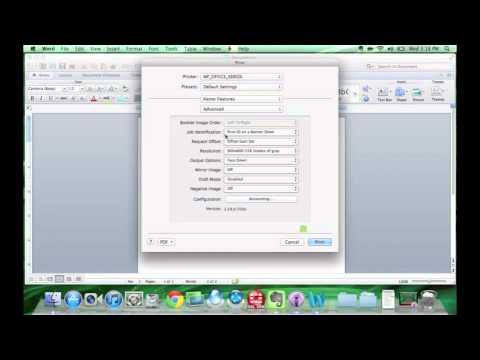 Printers: Installing Xerox Printers on MAC OS X Device