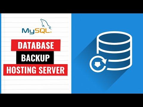 MySQL Database Tables Backup / Export From Hosting Server Video Tutorial