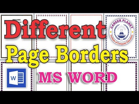 MS Word-Set Different Types of Page Borders to each page of a word file (Hindi)|Learn MS office