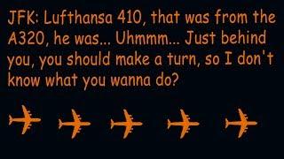 Funny ATC Lufthansa pilot leaves aircraft