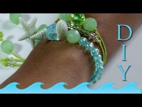 How to Make a Beach Shell Bracelet | DIY