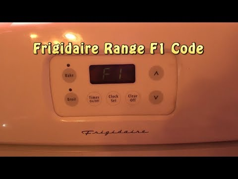 Frigidaire Range F1 Code