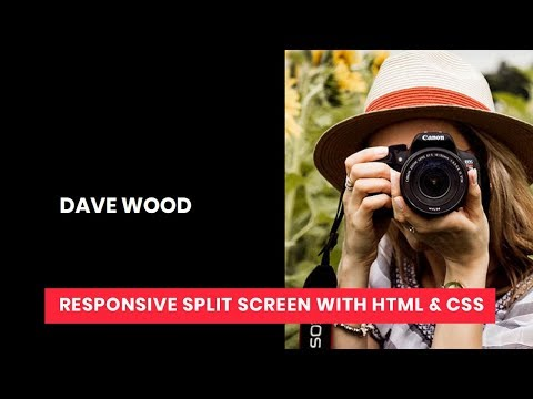 Reponsive Split Screen with html and css | Tutorial for Beginners