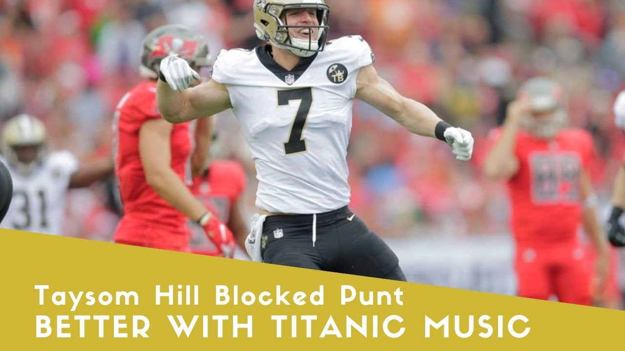 Taysom Hill Saints Blocked Punt vs Buccaneers Week 14 2018 Better with Titanic Music