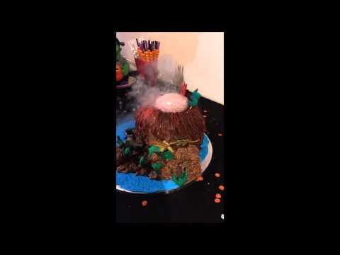 How To Make A Volcano Cake With Smoking Lava