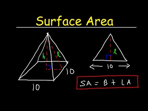 Surface Area of a Pyramid - Lateral Area - Geometry